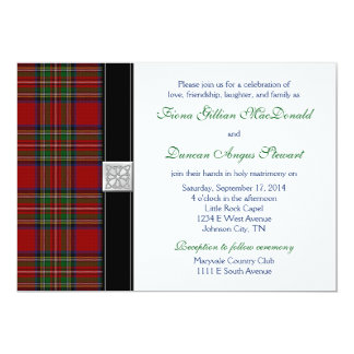 Royal Stuart Tartan Wedding Invitation Reception