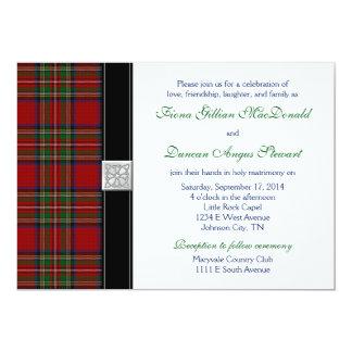 Royal Stuart Tartan Wedding Invitation Reception