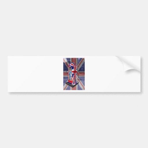 Royal telephone box bumper sticker