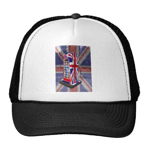 Royal telephone box mesh hats