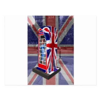 Royal telephone box postcard