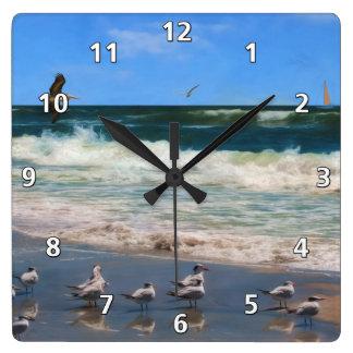 Royal Terns at the Beach Wall Clock