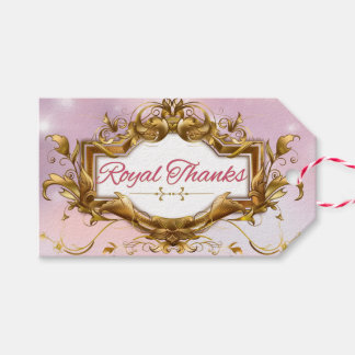 Royal Thanks Princess Baby Shower Gift Tag
