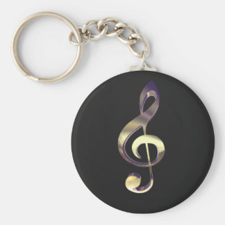 Royal Treble Clef Key Chain
