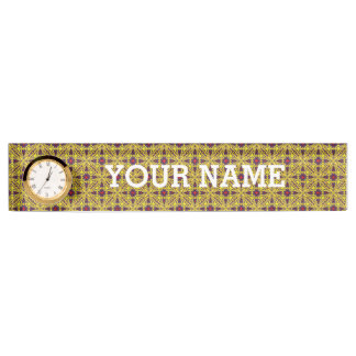 Royal Vintage Desk Nameplate with Clock