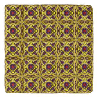 Royal Vintage Kaleidoscope   Colorful Trivet