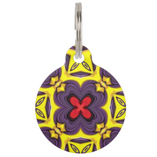 Royal Vintage Kaleidoscope    Dog Cat Tags