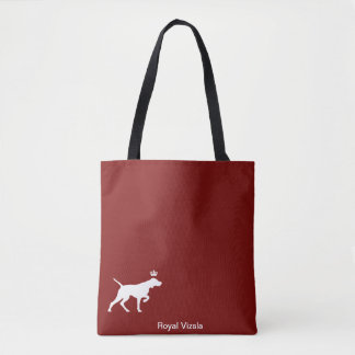 Royal Vizsla tote bag