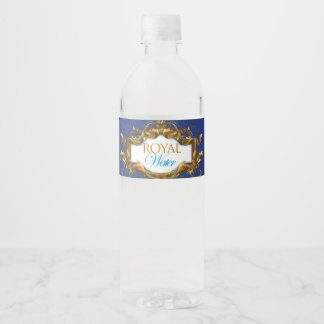 Royal Water Bottle Lables Water Bottle Label