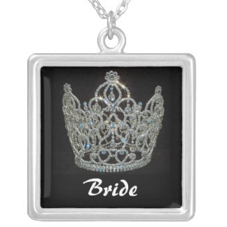Royal Wedding/Bride's Tiara Crown Silver Plated Necklace