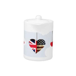 Royal Wedding British and American flag hearts