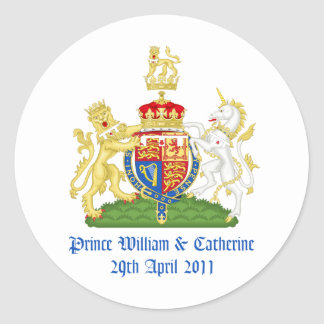Royal Wedding Classic Round Sticker