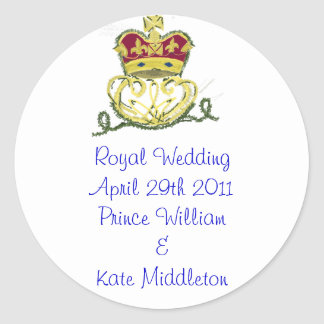 Royal Wedding Commemorative Round Sticker