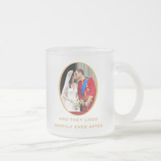 Royal Wedding Frosted Glass Coffee Mug