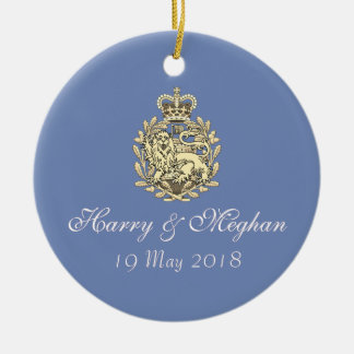 Royal Wedding Harry and Meghan Ornament (Blue)