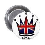 Royal Wedding Kate & William 2 Inch Round Button
