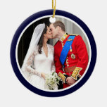 Royal Wedding Double-Sided Ceramic Round Christmas Ornament