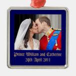 Royal Wedding Square Metal Christmas Ornament
