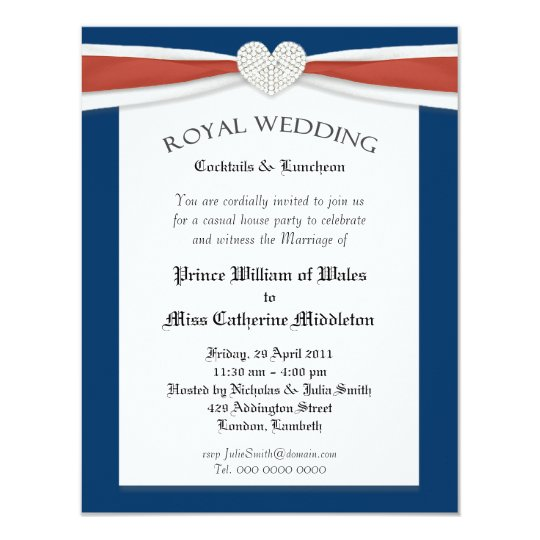 royal wedding watch house party invitations. Black Bedroom Furniture Sets. Home Design Ideas