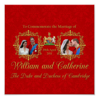 Royal Wedding - William and Kate Poster