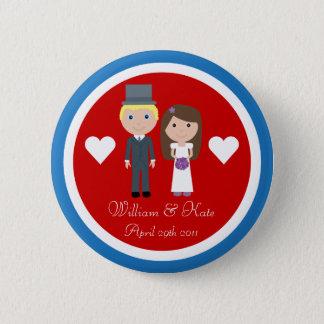 Royal Wedding William & Kate Cute Cartoon 2 Inch Round Button