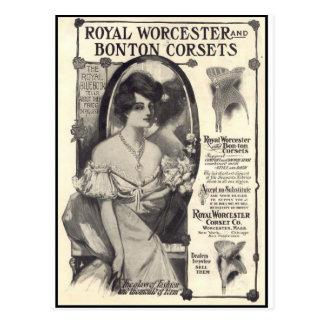 royal worcester corsets postcard