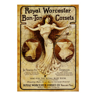 Royal Worcester corsets Poster