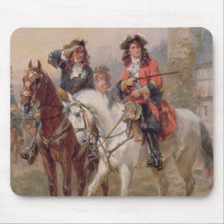Royalists (oil on panel) (pair of 124465) mouse pad
