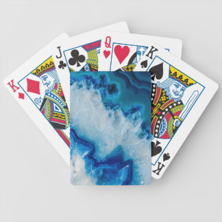 Royally Blue Agate Bicycle Playing Cards