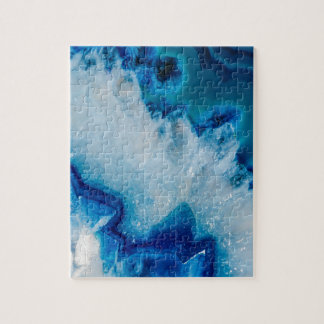 Royally Blue Agate Jigsaw Puzzle