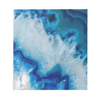 Royally Blue Agate Notepad