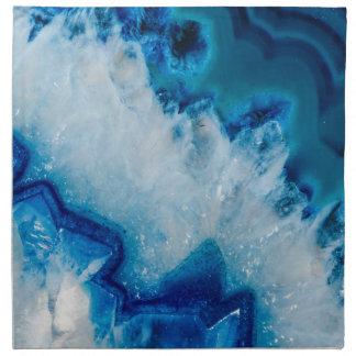 Royally Blue Agate Printed Napkins