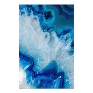 Royally Blue Agate Stationery