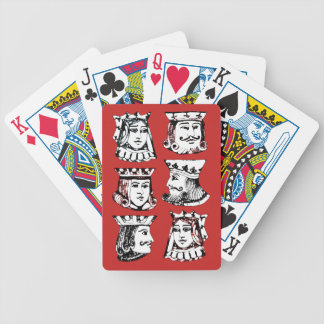 Royals in Red Bicycle Playing Cards