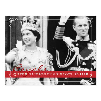 Royals Queeen Elizabeth & Prince Philip Postcard
