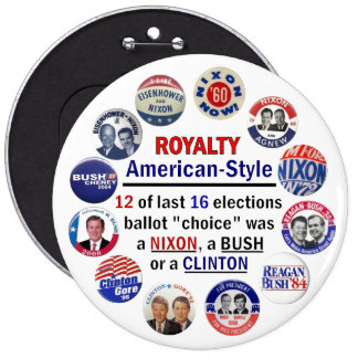 Royalty, American-Style 6 Inch Round Button
