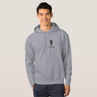 Royalty fashion co mens egyptian cross hoodie