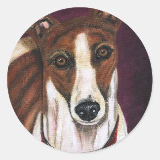 Royalty - Greyhound Art Classic Round Sticker