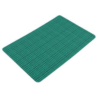 Royalty-Plaid-Fabric's(c)Irish-Kelly-Green* Floor Mat