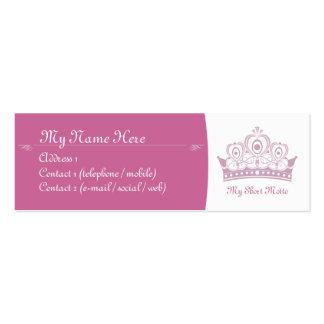 Royalty / Princess Skinny Calling Cards Mini Business Card