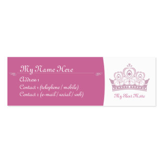 Royalty / Princess Skinny Calling Cards Pack Of Skinny Business Cards