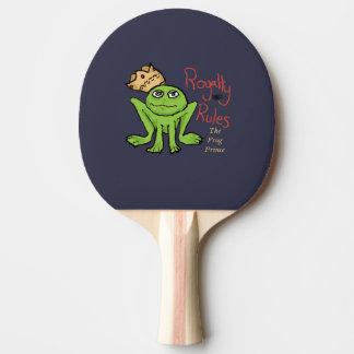 Royalty Rules Frog Prince Ping Pong Paddle