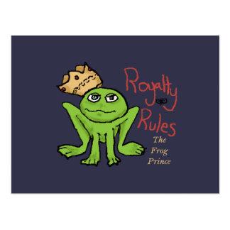 Royalty Rules Frog Prince Postcard