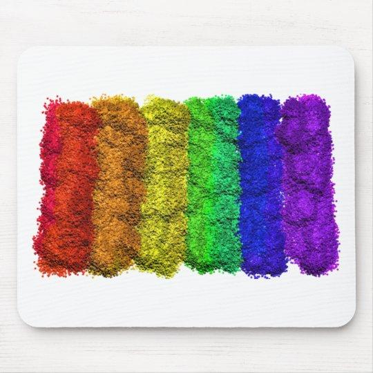 ROYGBIV Rainbow Glitter Mouse Pad
