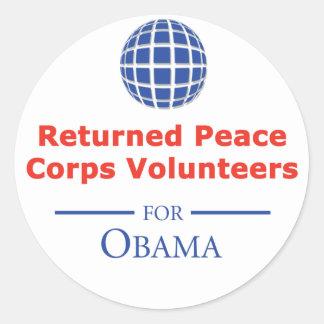 RPCVS For Obama Stickers