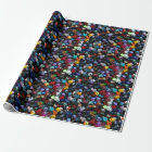 RPG Multi-sided Dice Wrapping Paper