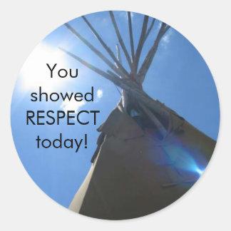 Rrespect Award Round Sticker