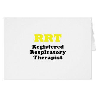 RRT Registered Respiratory Therapist Card