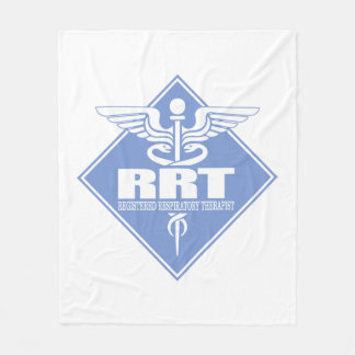 RRT Registered Respiratory Therapist Fleece Blanket