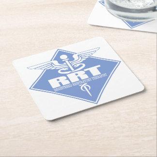 RRT Registered Respiratory Therapist Square Paper Coaster